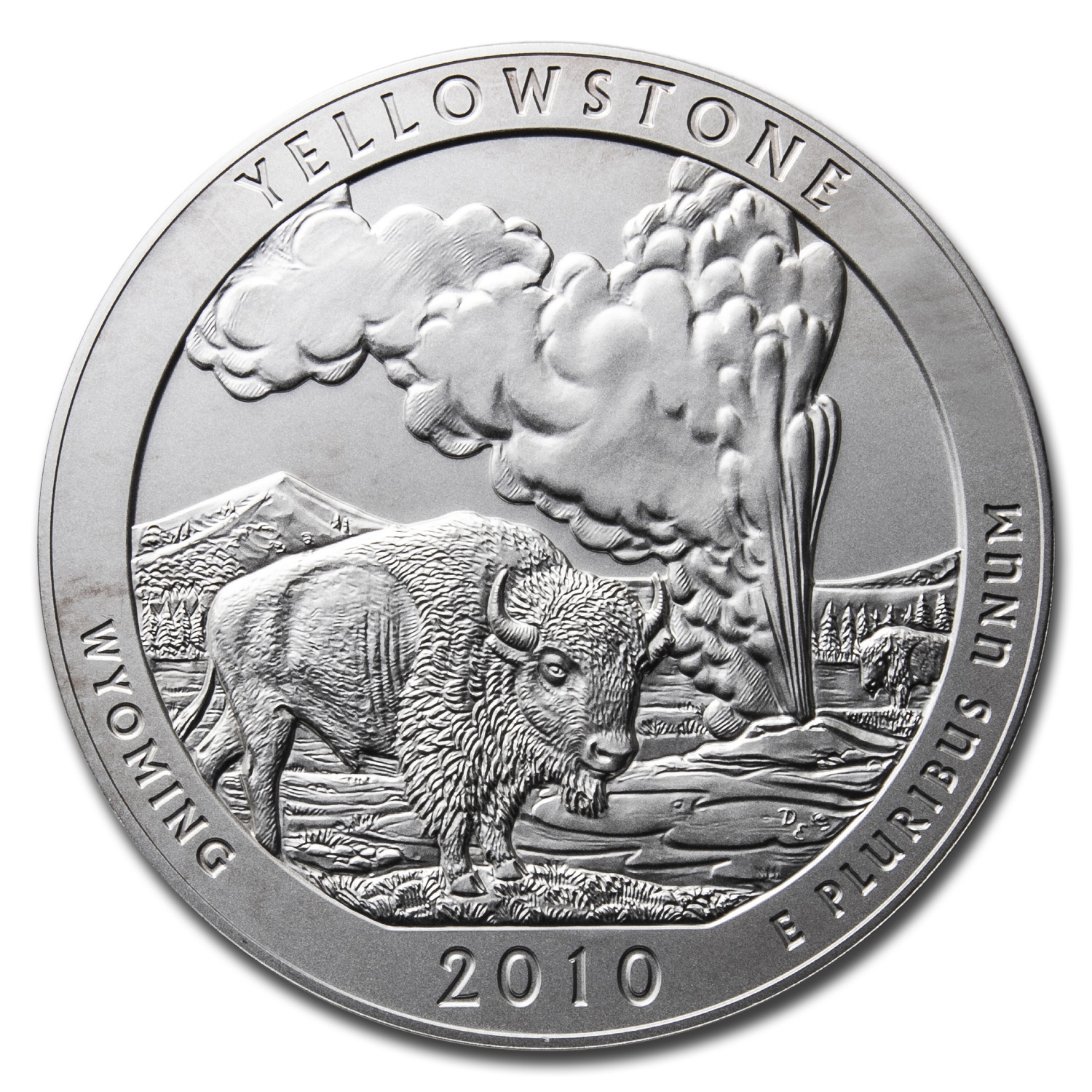 2010-P 5 oz Silver ATB Yellowstone (w/box & CoA)