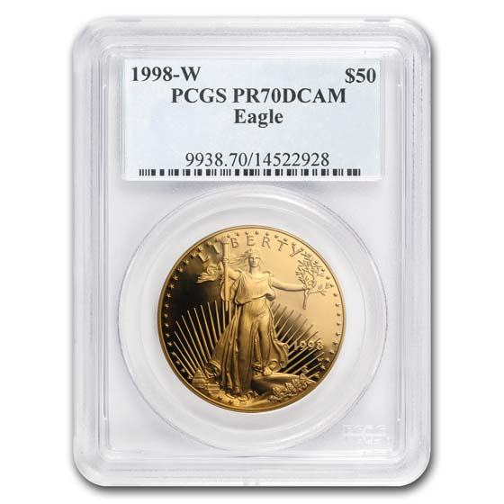 1998-W 1 oz Proof Gold American Eagle PR-70 PCGS (Registry Set)