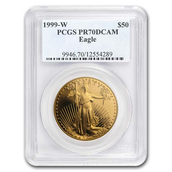 1999-W 1 oz Proof Gold American Eagle PR-70 PCGS (Registry Set)