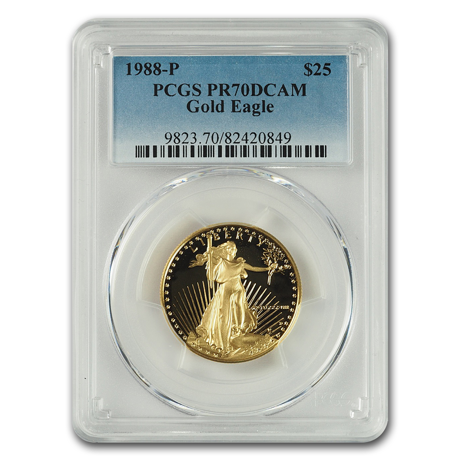 1988-P 1/2 oz Proof Gold American Eagle PR-70 PCGS