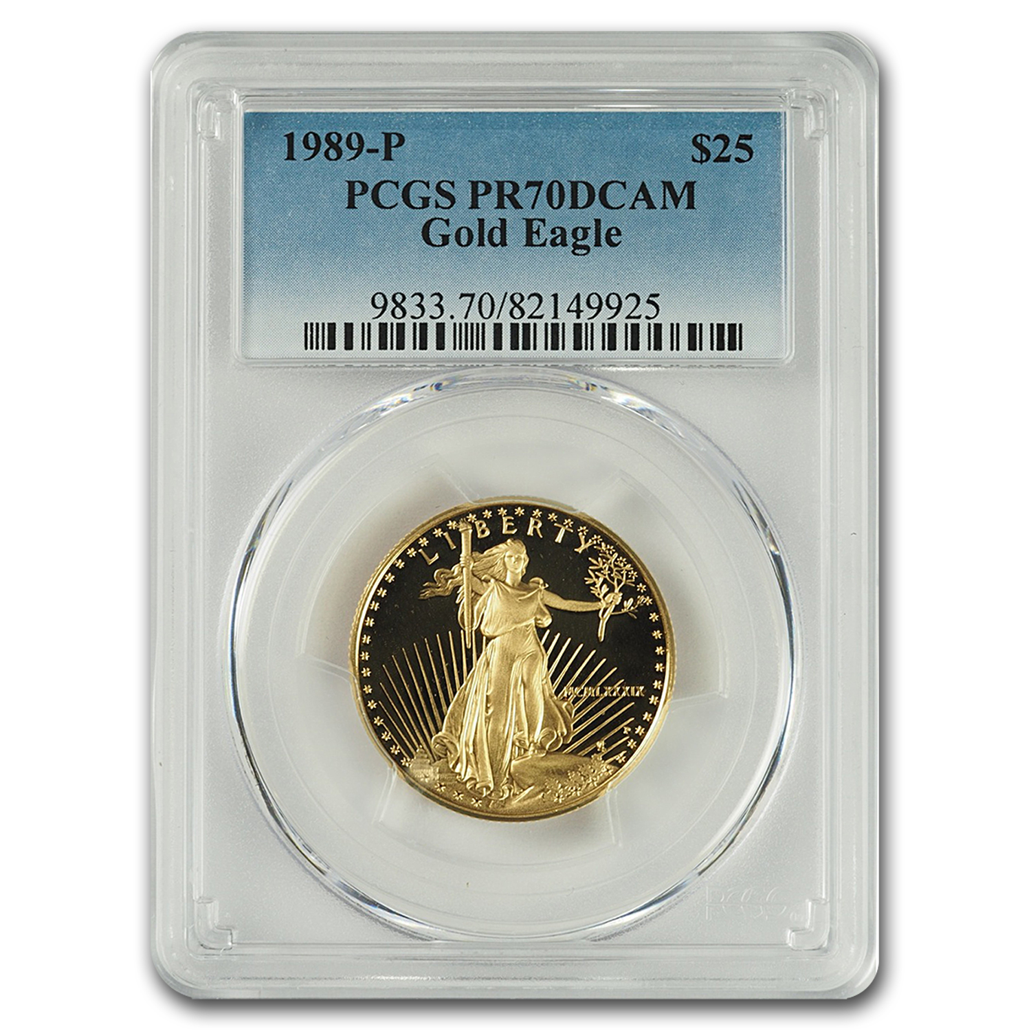 1989-P 1/2 oz Proof Gold American Eagle PR-70 PCGS
