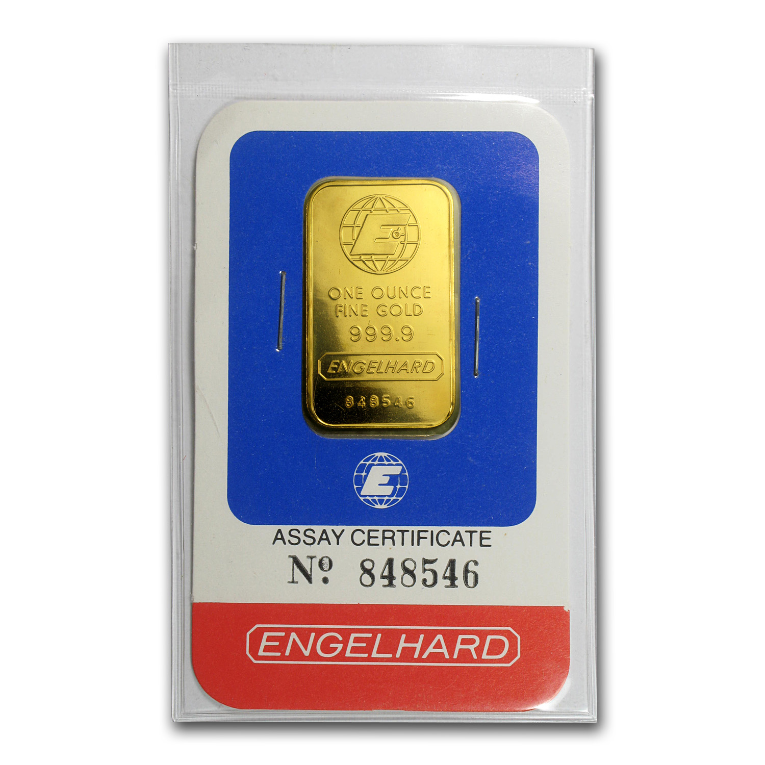 1 oz Gold Bar - Engelhard (Random Design, In Assay)