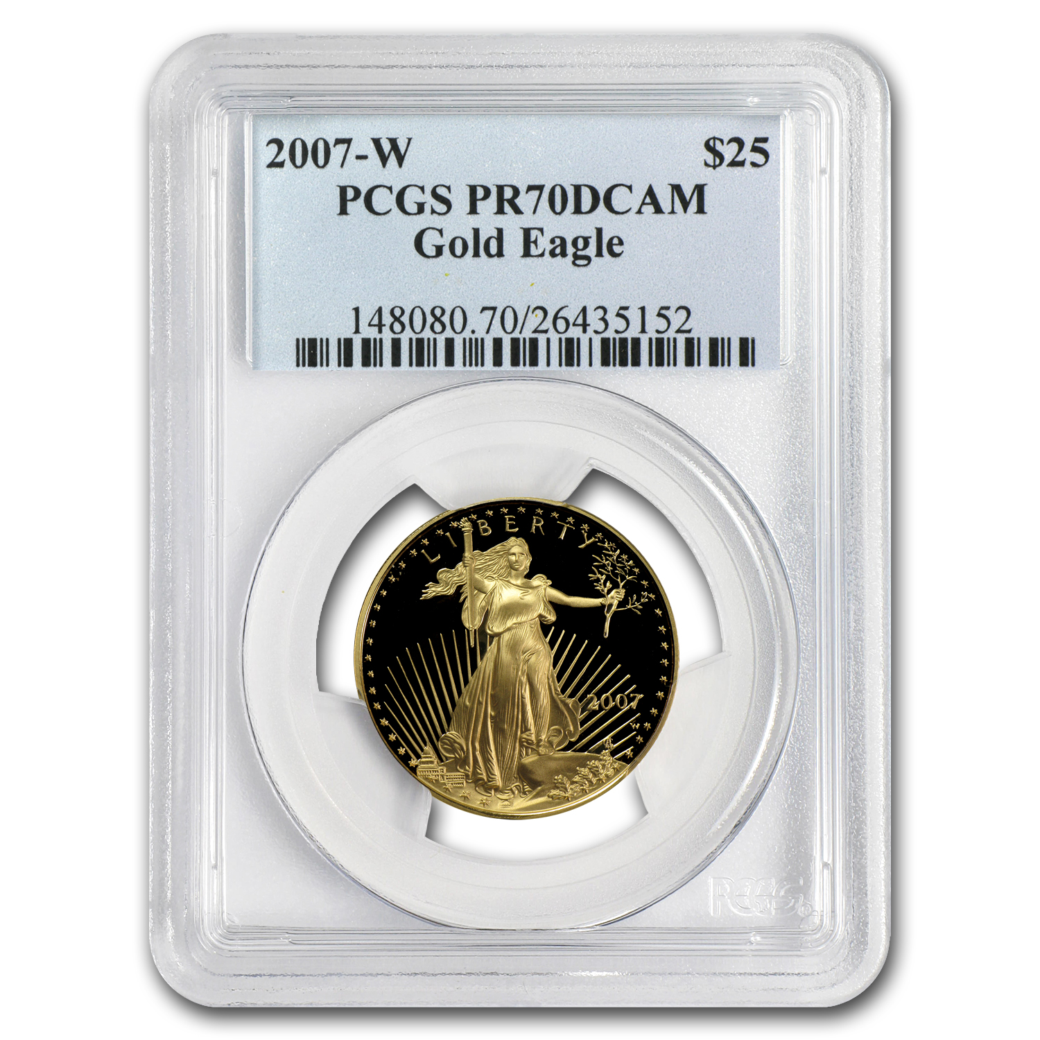 2007-W 1/2 oz Proof Gold American Eagle PR-70 PCGS