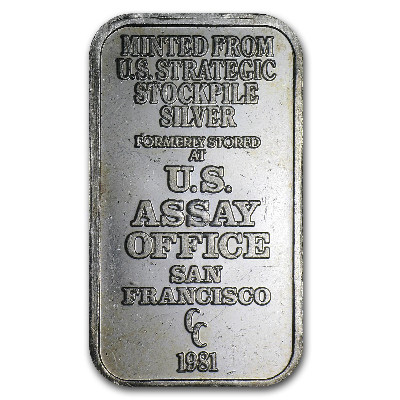 1 Oz Silver Bar U S Assay Office 1 Oz Silver Bars