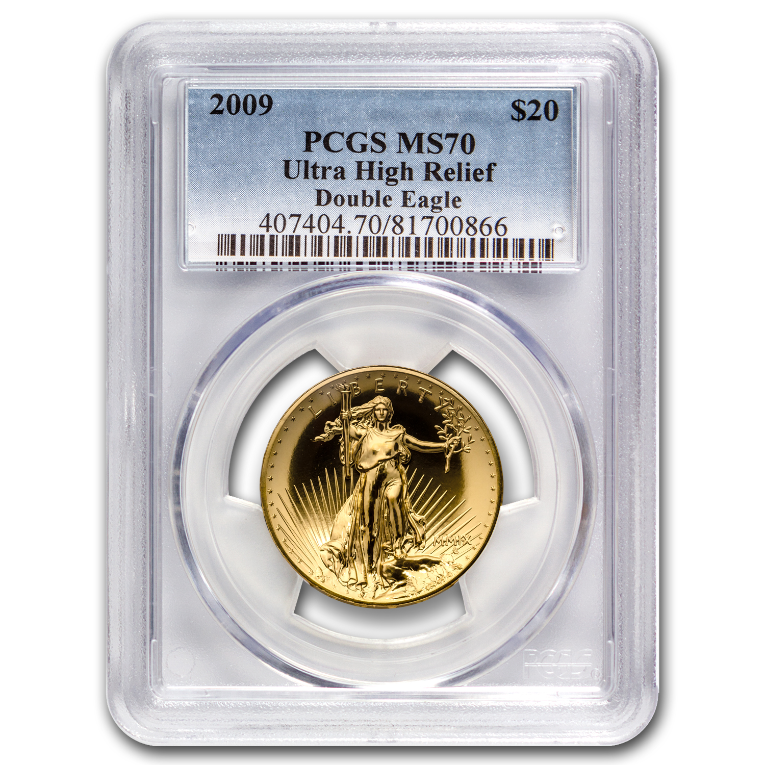 2009 Ultra High Relief Double Eagle MS-70 PCGS