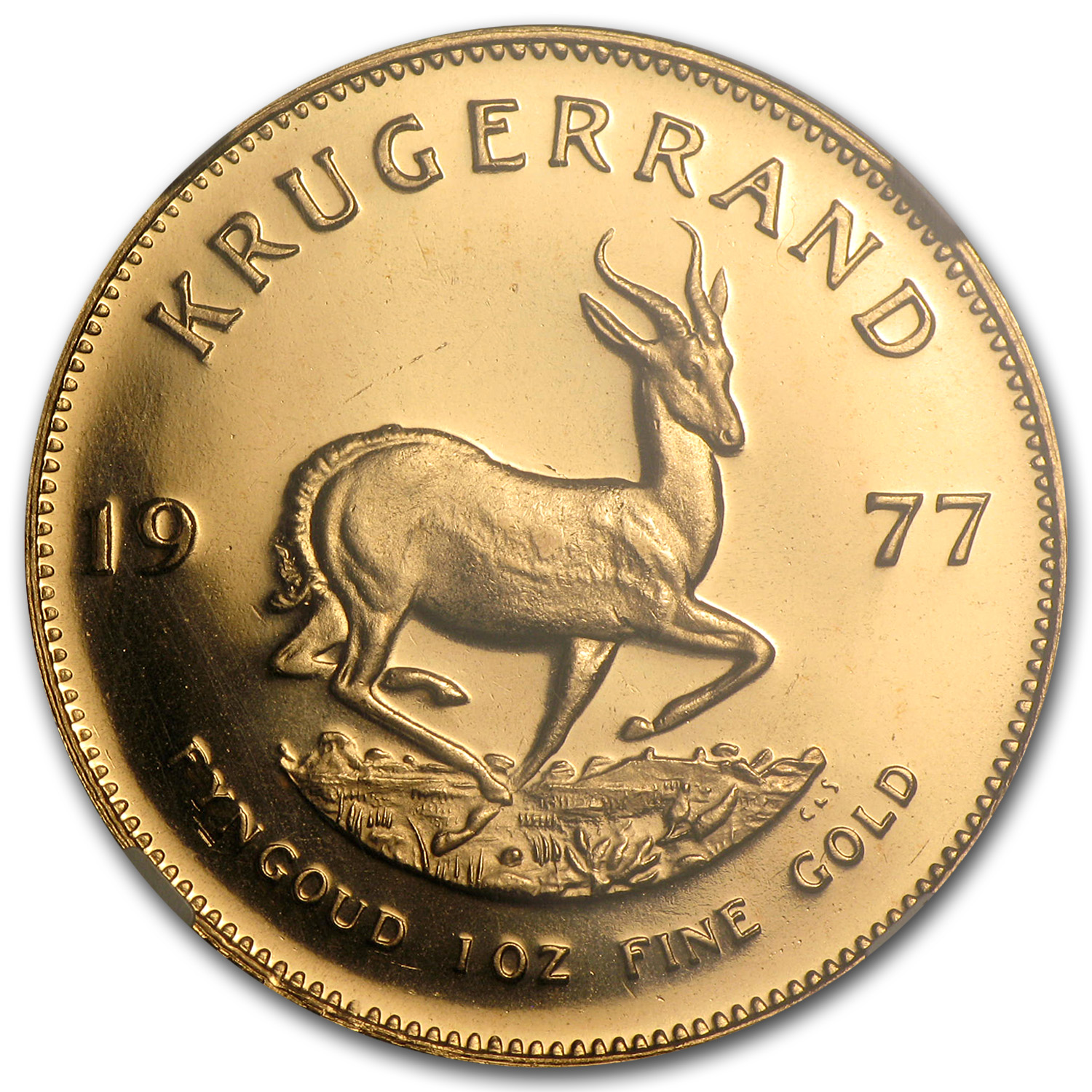 1977 1 oz Gold South African Krugerrand MS-67 NGC