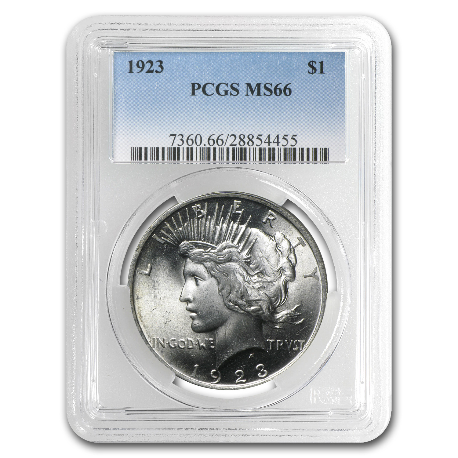 1922-1925 Peace Dollars - MS-66 PCGS