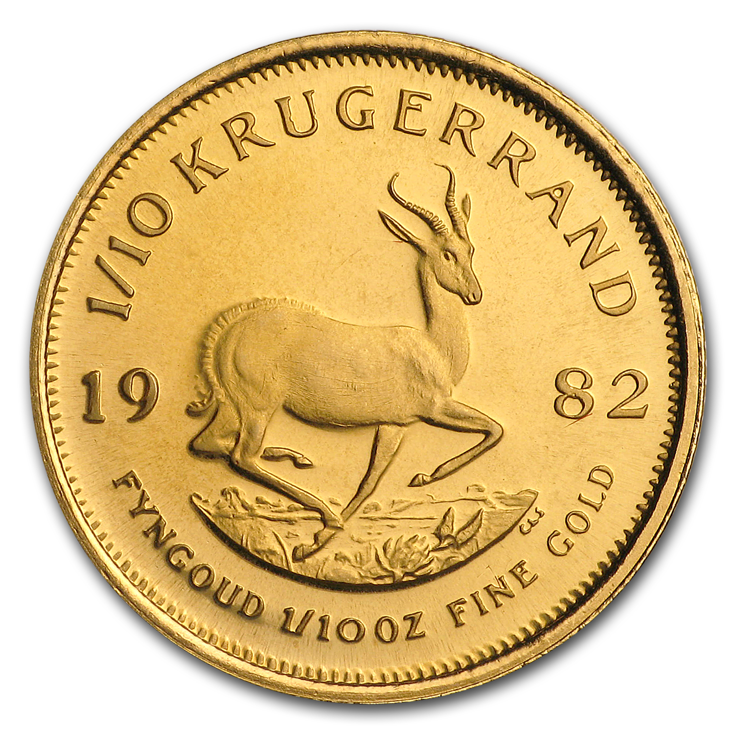 1982 South Africa 1/10 oz Proof Gold Krugerrand