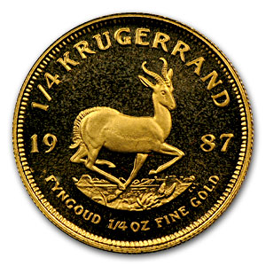 1987 South Africa 1/4 oz Proof Gold Krugerrand
