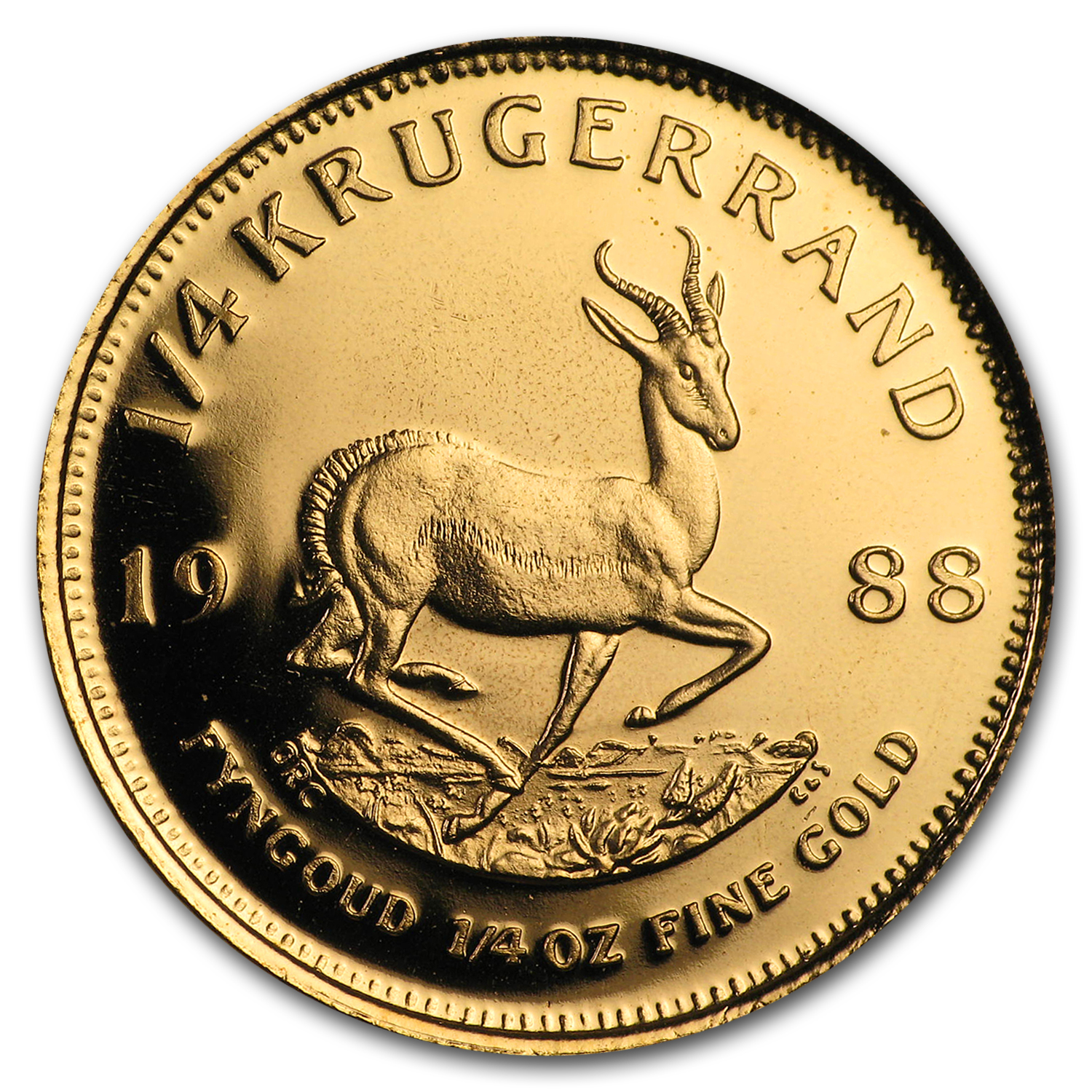 1988 South Africa 1/4 oz Proof Gold Krugerrand