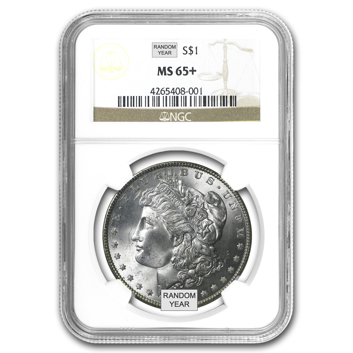 1878-1904 Morgan Dollars - MS-65+ NGC