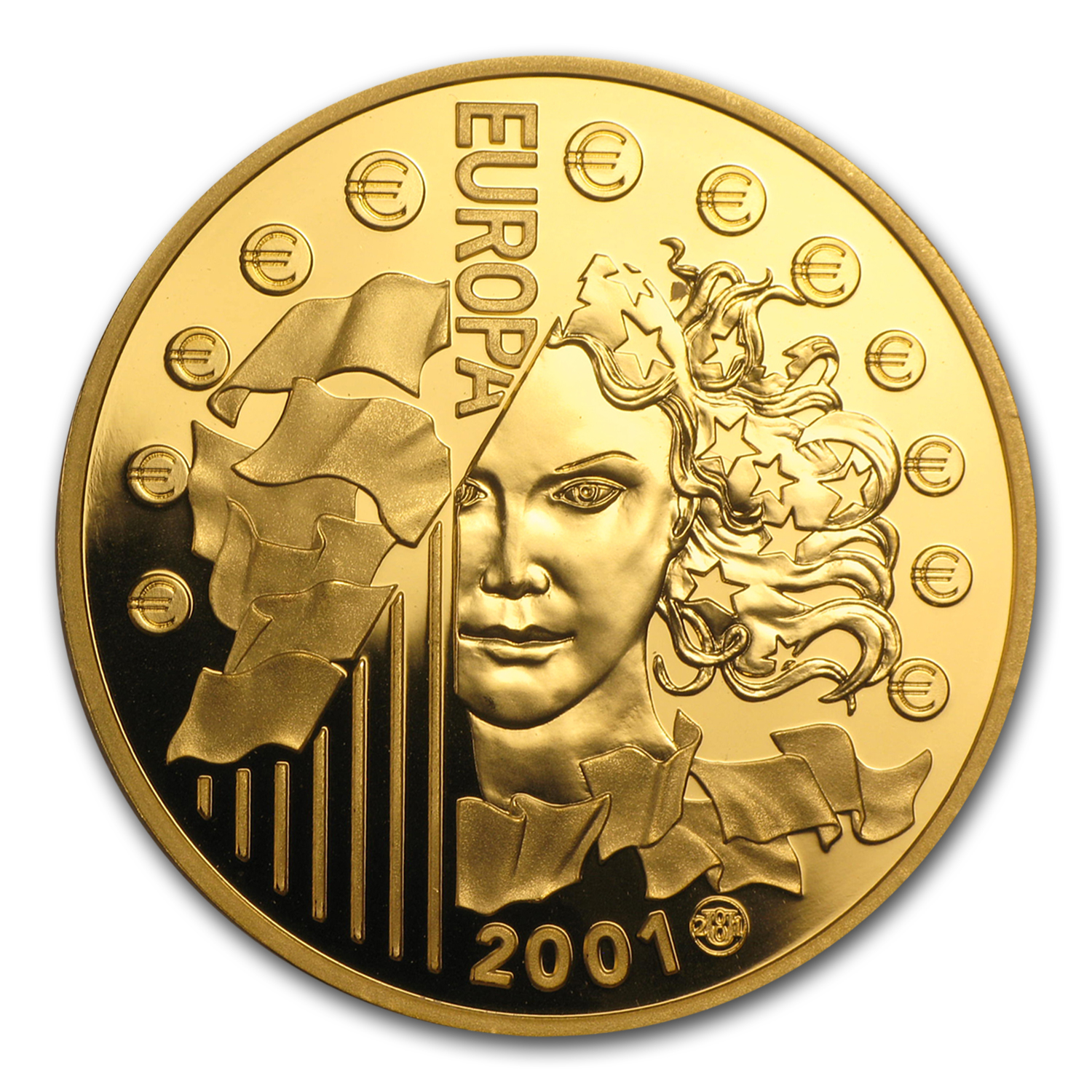 France 2001 655.957 Francs Gold .999 oz