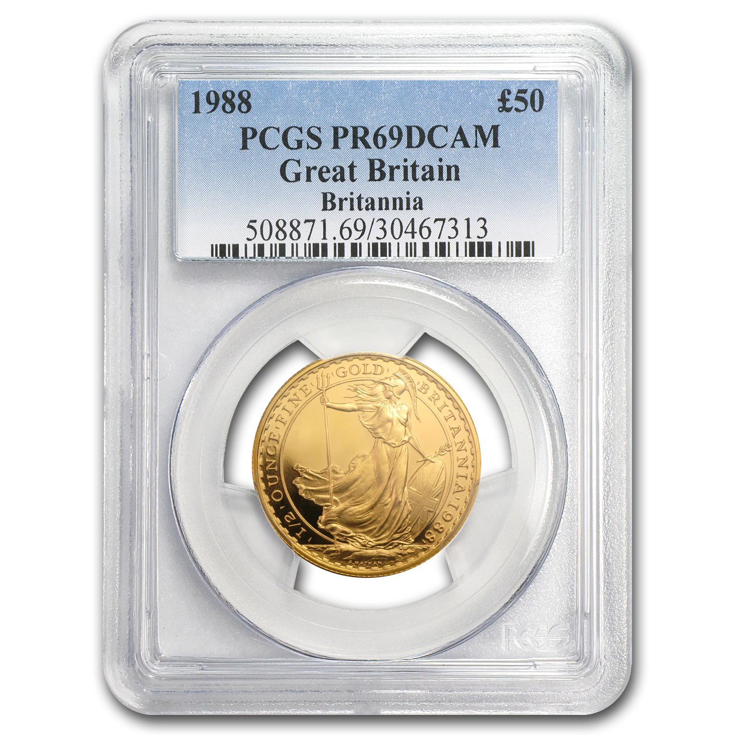 1988 1/2 oz Proof Gold Britannia PR-69 DCAM PCGS