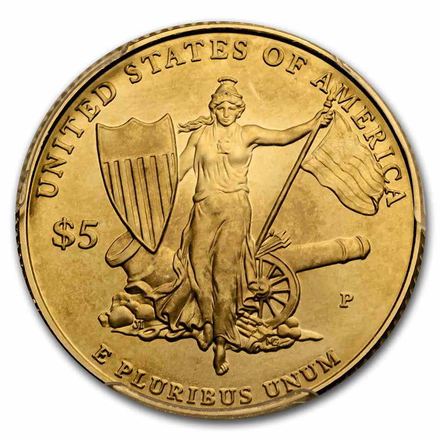 2011-P Gold $5 Commemorative Medal of Honor MS-70 PCGS