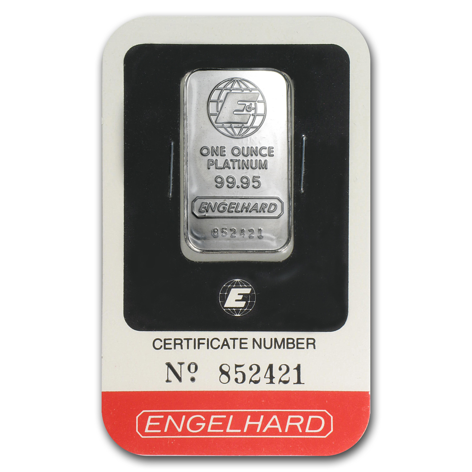1 oz Engelhard Platinum Bar .9995 Fine (In Assay)