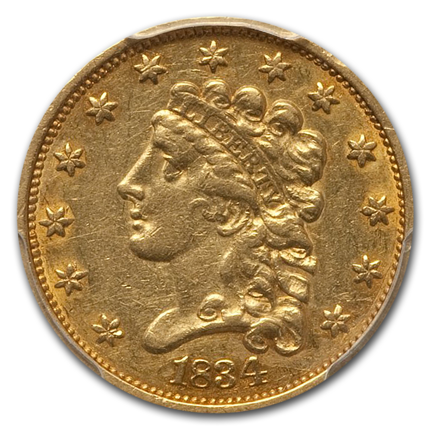 1834 $2.50 Gold Classic Head - Extra Fine-45 PCGS