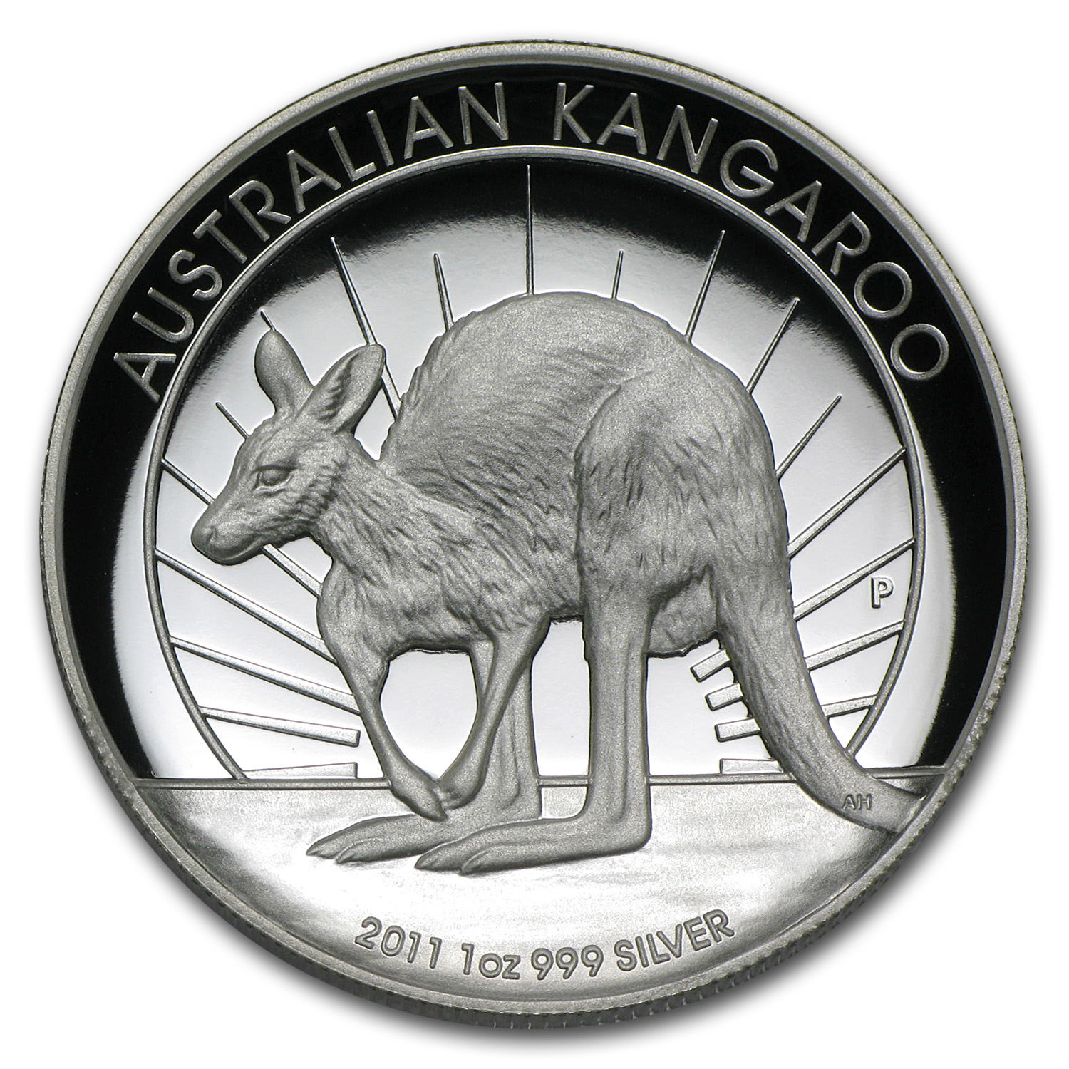 2011 Australia 1 oz Silver Kangaroo Proof (High Relief)