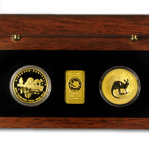 2006 Australia 3-Coin Gold Kangaroo Set (1.16 oz)