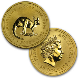 2006 3 coin Australian Kangaroo Gold Set 1.16 oz