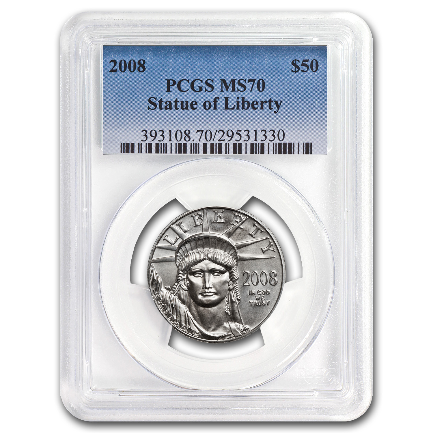 2008 1/2 oz Platinum American Eagle MS-70 PCGS