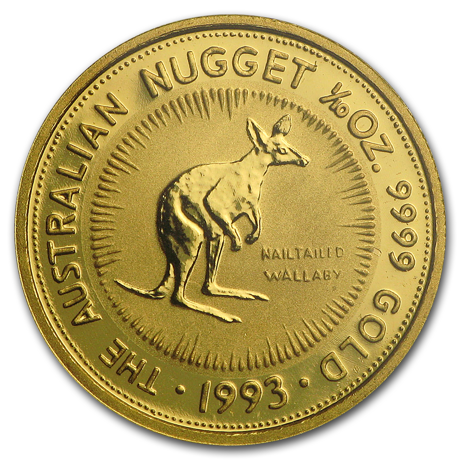 1993 Australia 1/10 oz Gold Nugget