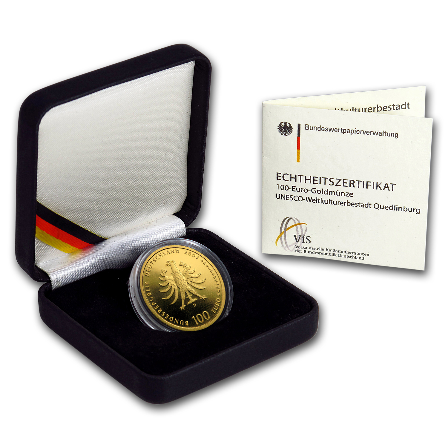 2003 Germany 1/2 oz Gold 100 Euro Quedlinburg Abbey BU