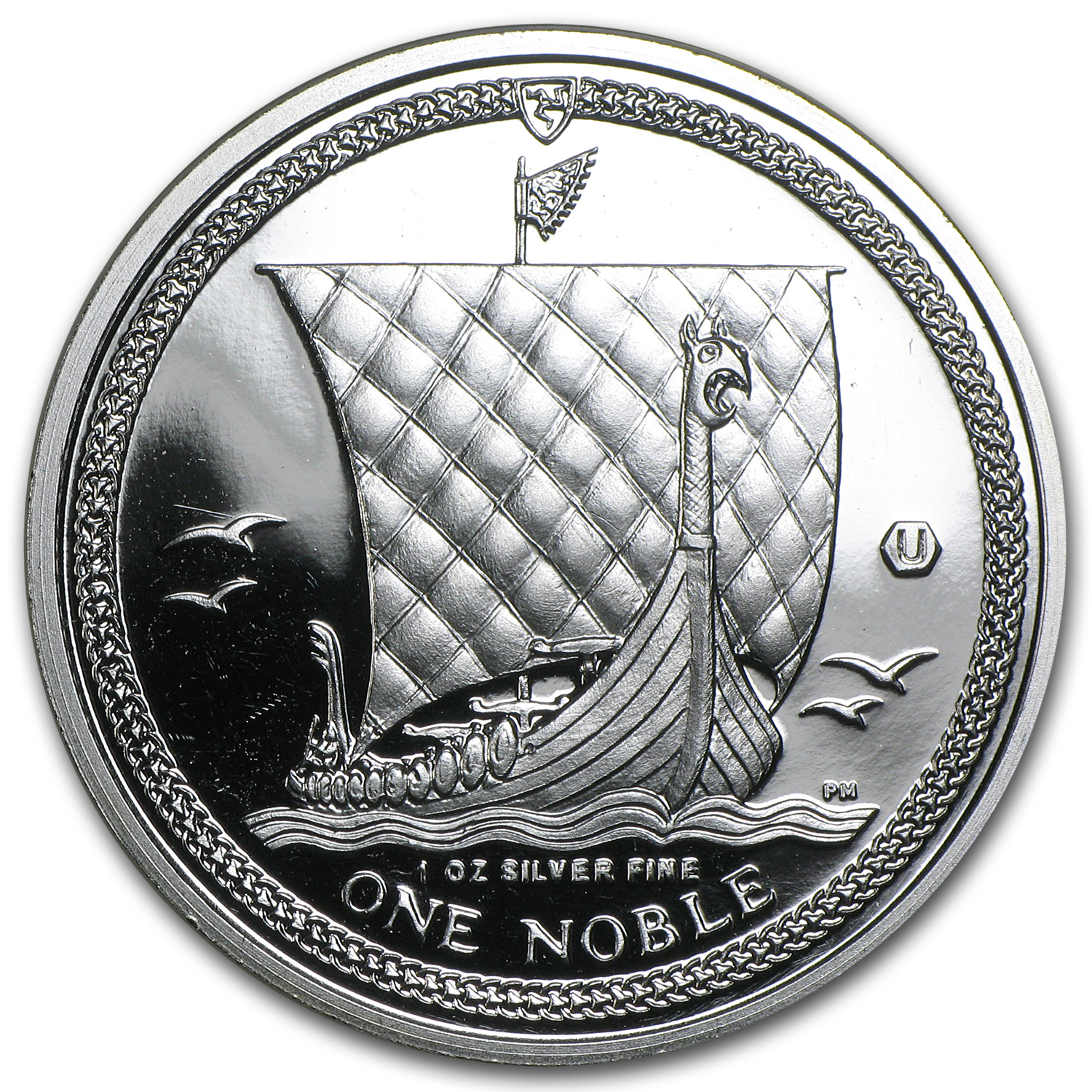 2011 Isle of Man 1 oz Silver Noble BU