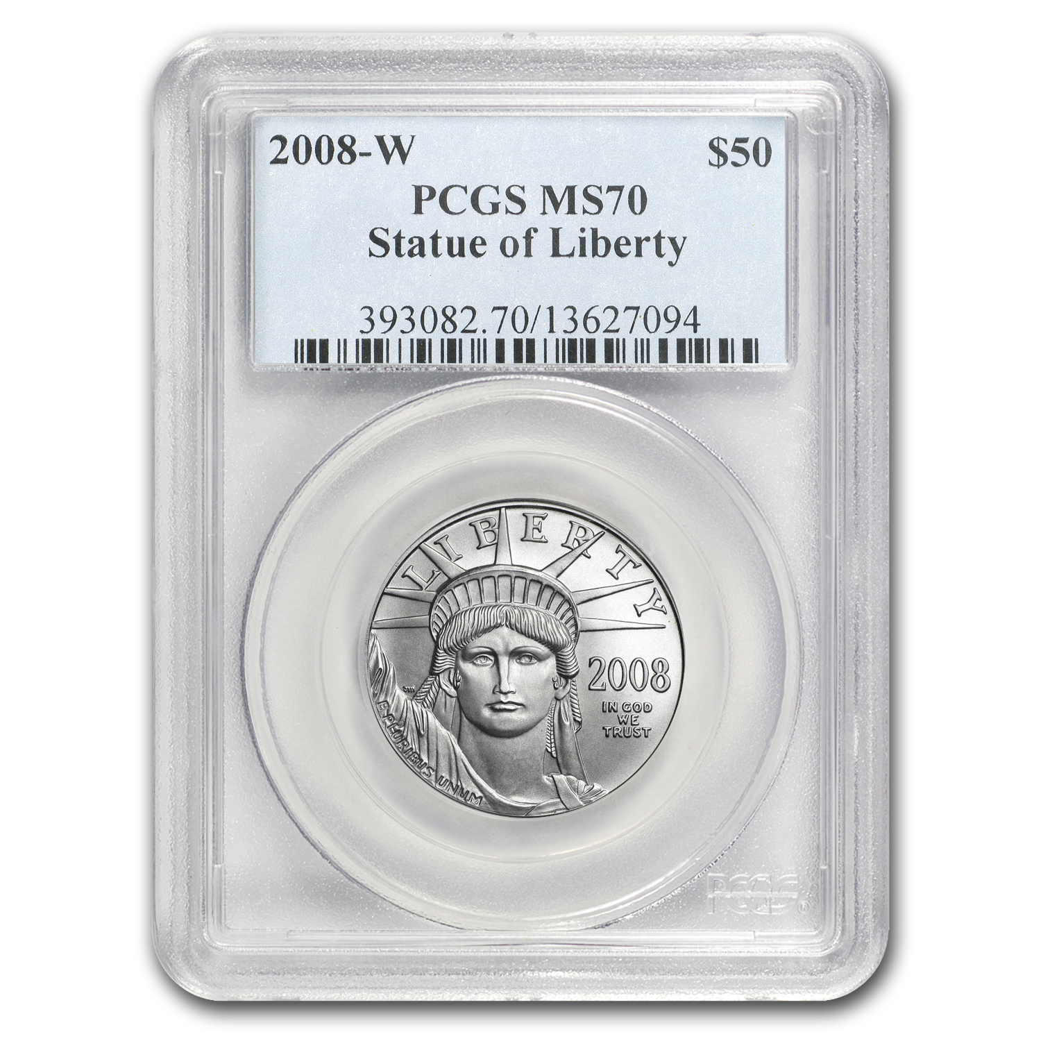 2008-W 1/2 oz Burnished Platinum American Eagle MS-70 PCGS