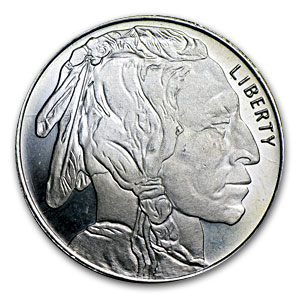 1/2 oz Silver Rounds - Buffalo Nickel (30 mm)