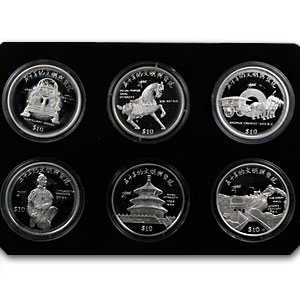 Sierra Leone 1999 10 Dollars Silver Proof  China 2000