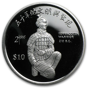 1999 Sierra Leone Silver 10 Dollars China 2000 Proof
