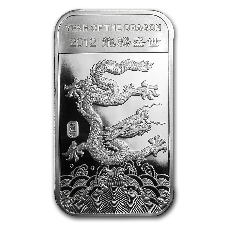 10 Oz Silver Bar Apmex 2012 Year Of The Dragon 10 Oz
