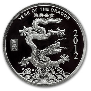 2 oz Silver Round - APMEX (2012 Year of the Dragon)