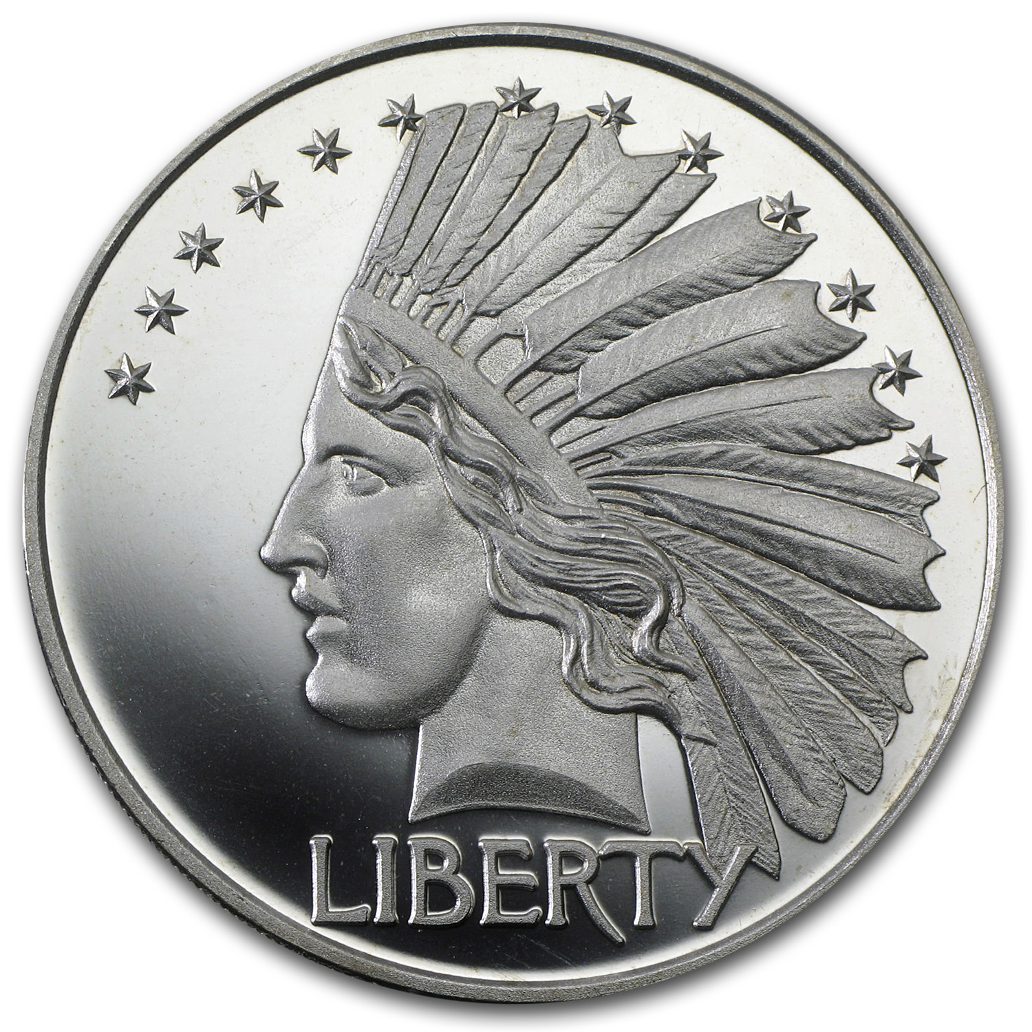 2 oz Silver Round - $10 Indian Head (Replica)