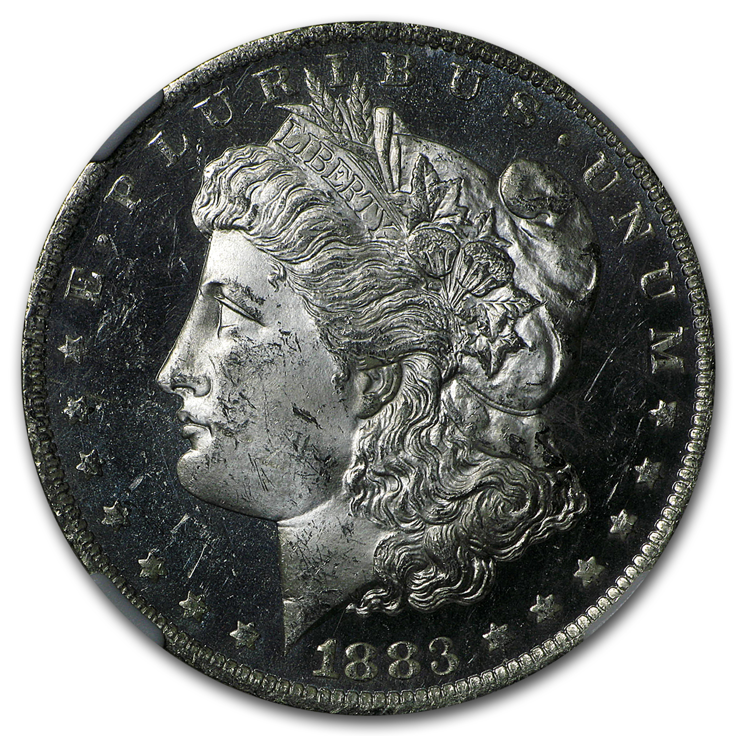 1883-O Morgan Dollar MS-63 DPL NGC