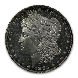 1885-O Morgan Dollar MS-63 DPL NGC
