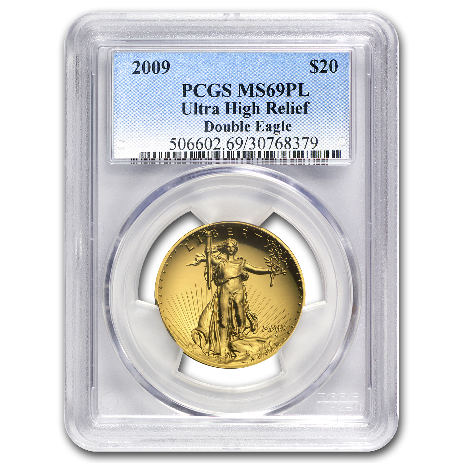 2009 Ultra High Relief Double Eagle MS-69 PL PCGS