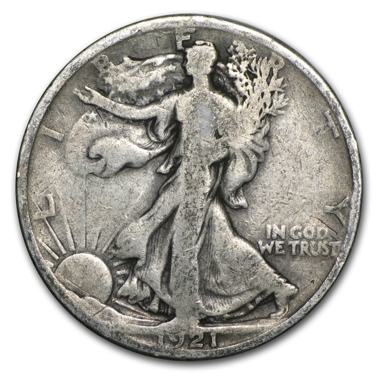 1921 Walking Liberty Half Dollar Vg Silver Prices