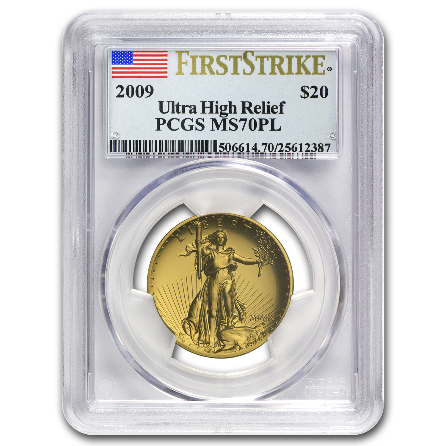 2009 Ultra High Relief Double Eagle MS-70 PL PCGS (FS)