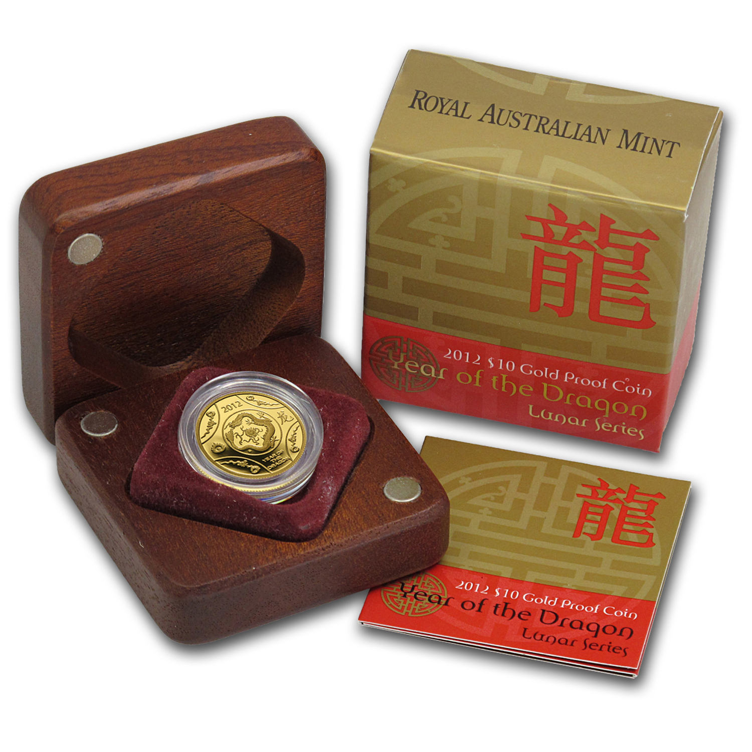 2012 Australia 1/10 oz Proof Gold Year of the Dragon