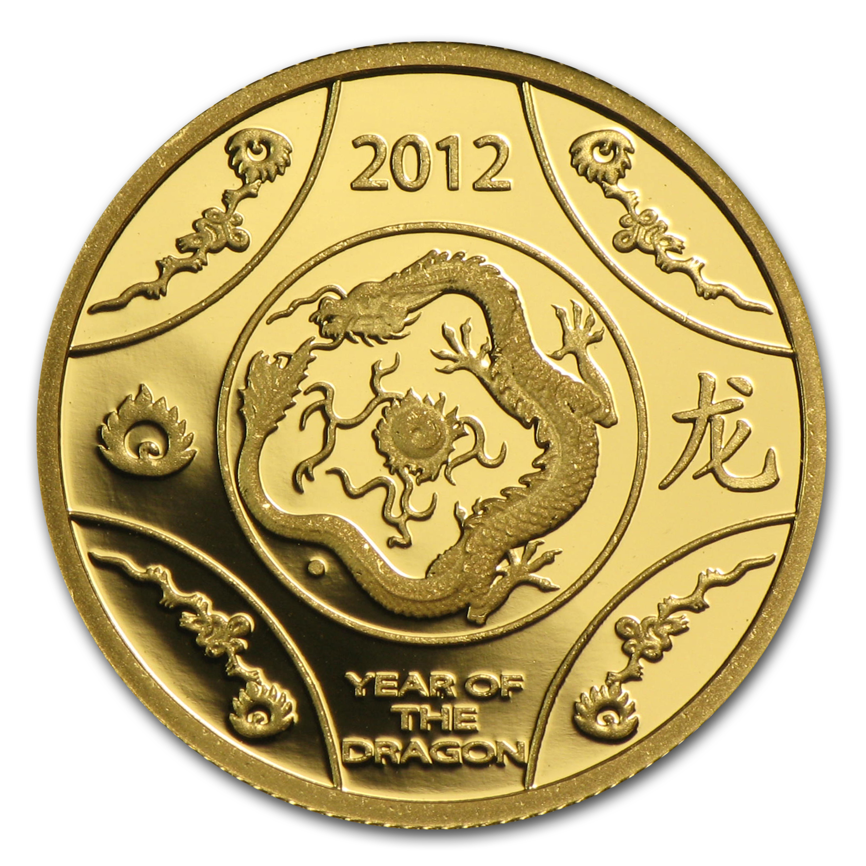 2012 1/10 oz Gold Royal Australian Mint Year of the Dragon Proof