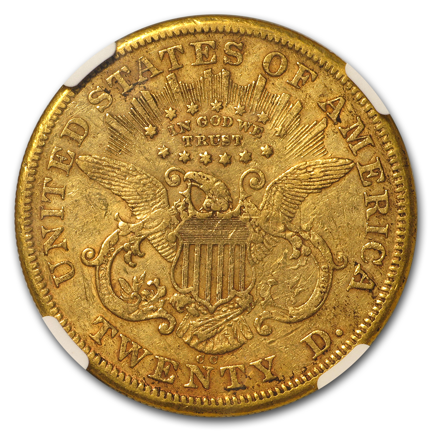 1874-CC $20 Liberty Gold Double Eagle XF-45 NGC