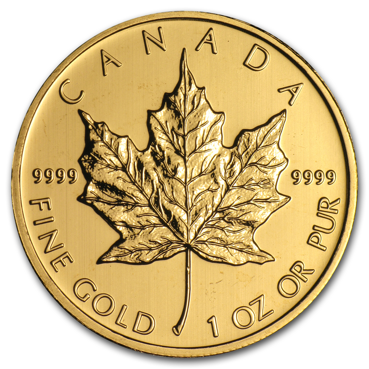 2012 1 oz Gold Canadian Maple Leaf - Brilliant Uncirculated