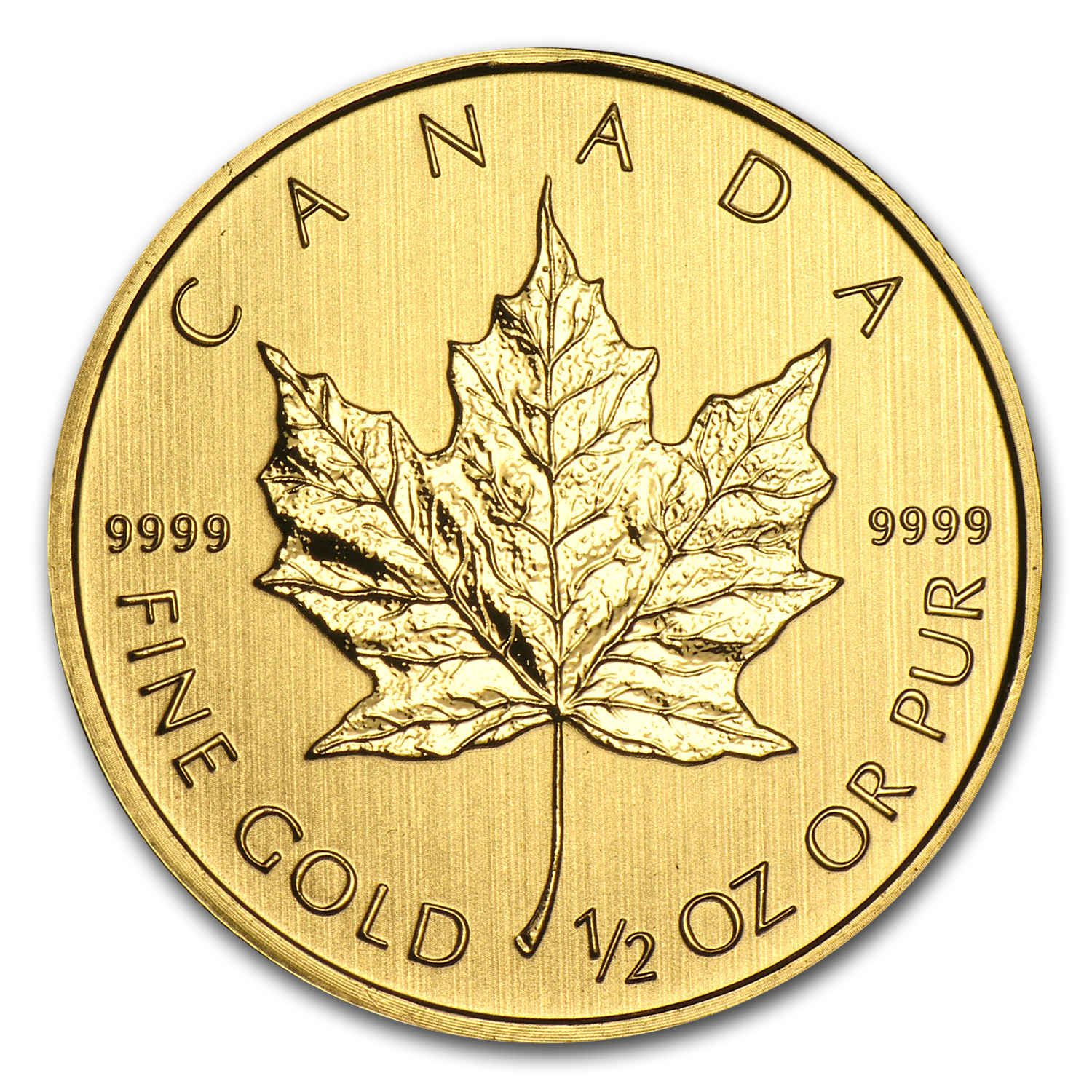 2012 Canada 1/2 oz Gold Maple Leaf BU