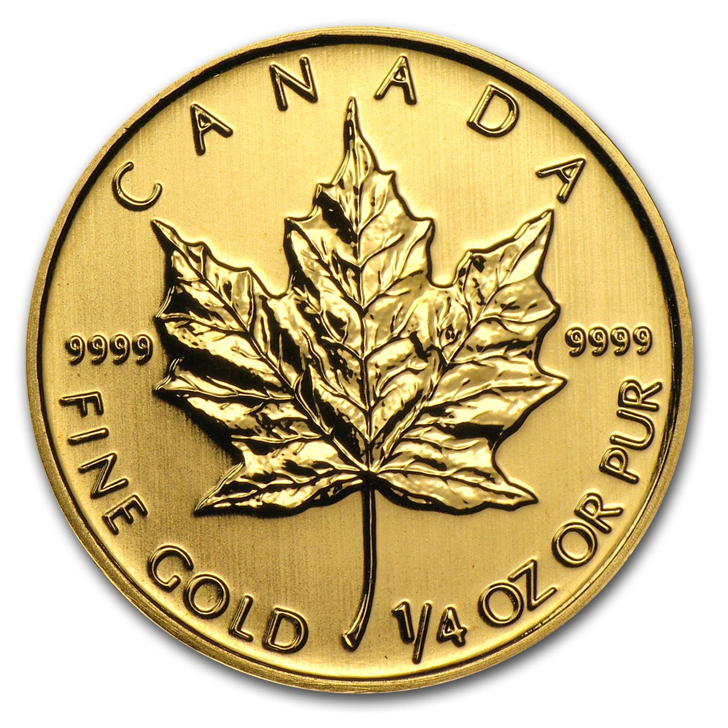2013 1/4 oz Gold Canadian Maple Leaf BU