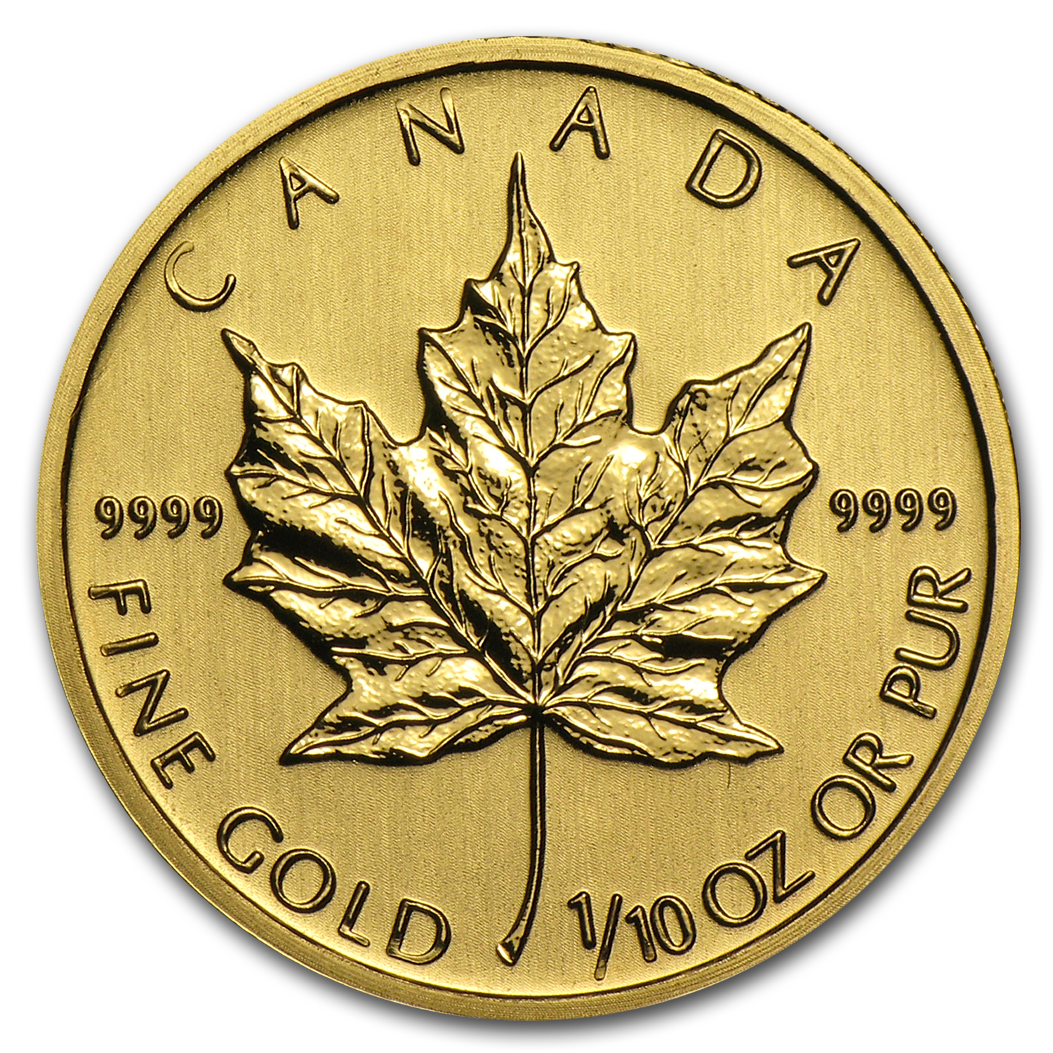 2012 1/10 oz Gold Canadian Maple Leaf