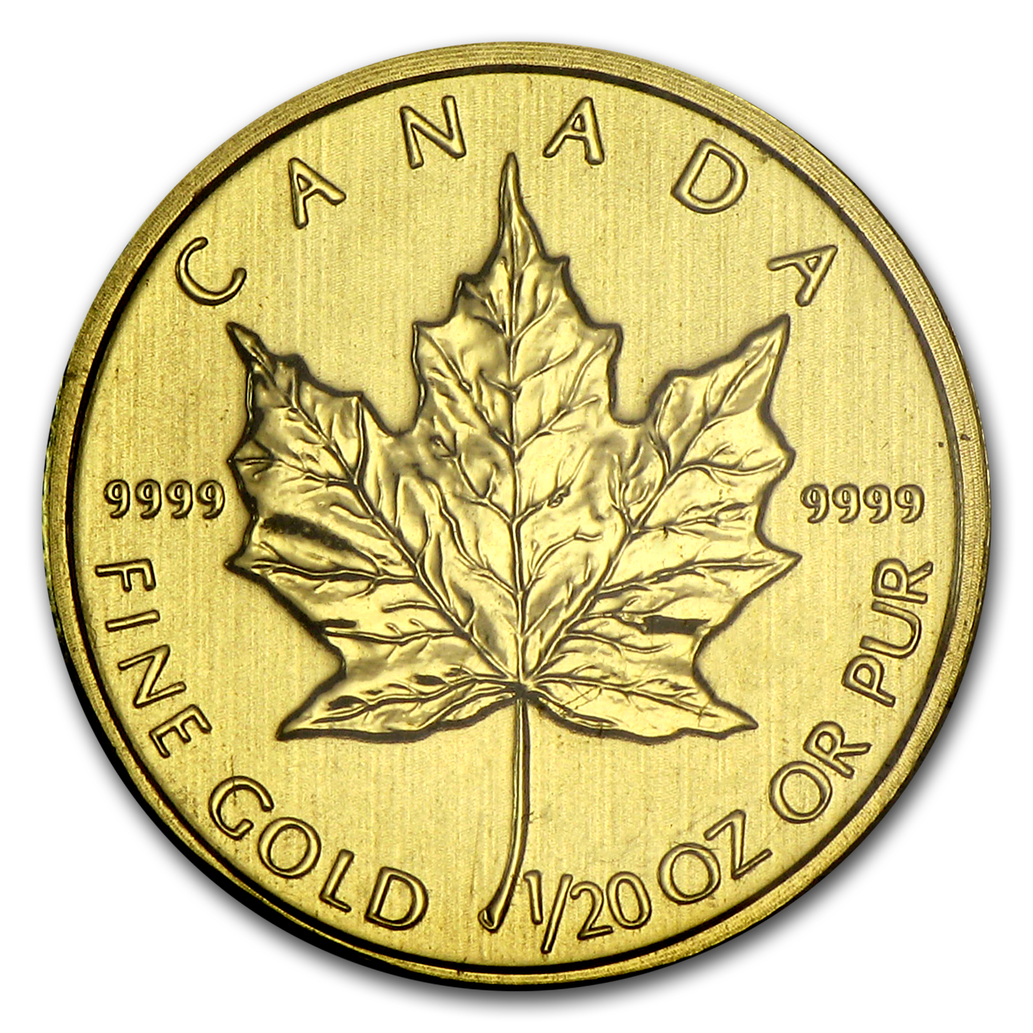 2012 Canada 1/20 oz Gold Maple Leaf BU