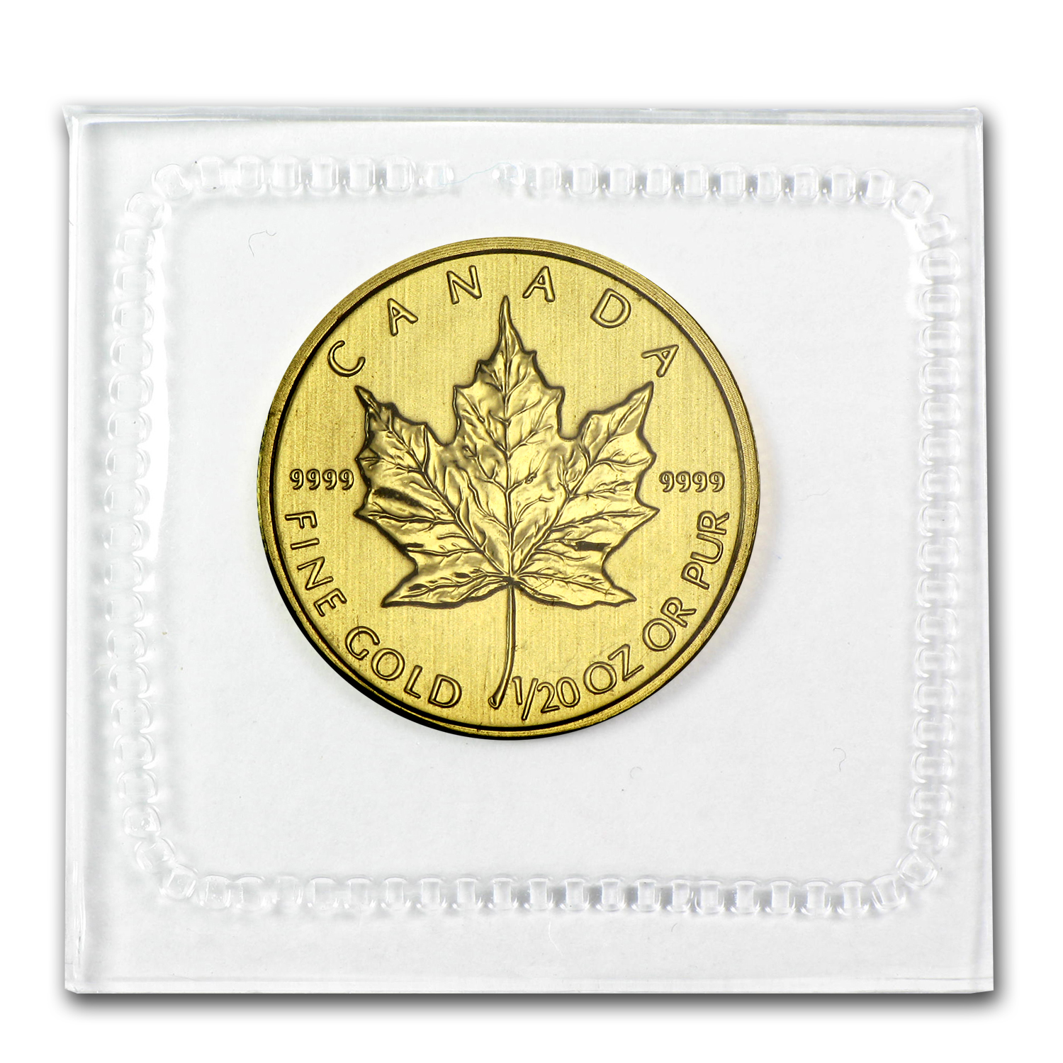 2012 1/20 oz Gold Canadian Maple Leaf