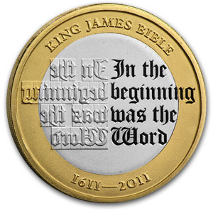2011 Great Britain £2 Silver Piedfort King James Bible - Proof