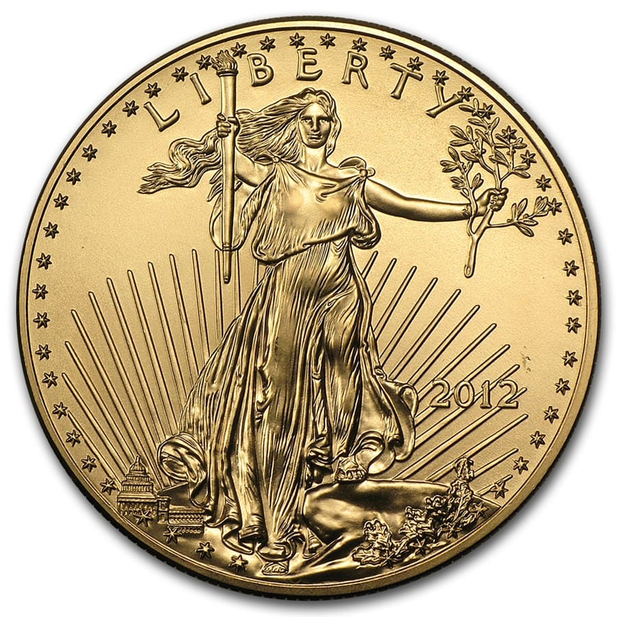 2012 1 oz Gold American Eagle BU